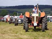 2017 Tractors parading up the hill